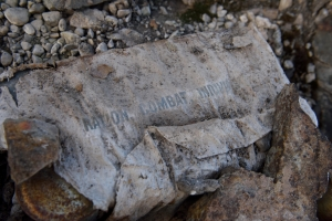 US army rations found near base camp on the eastern shore of Centrum Sø