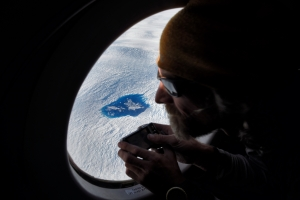 Chris Blakeley looks out at the Greenland Ice sheet